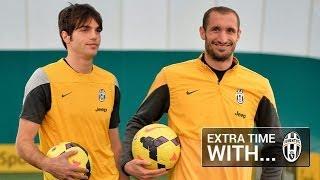 Extra Time con i giocatori della Juventus: Chiellini e De Ceglie.