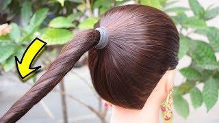 Hair bun using Chinese bun stick