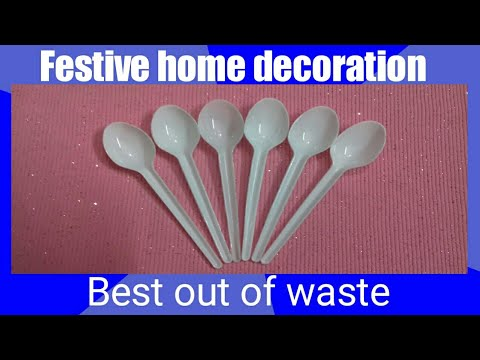 Best out of waste material craft at home/DIY Diwali and Christmas decoration/Plastic recycling idea