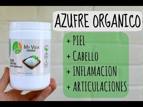 Azufre Organico para Piel + Caida de Pelo + Colageno + Inflamacion + Articulaciones