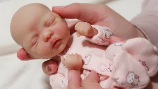 Mini Silicone Reborn Baby Doll Morning Routine