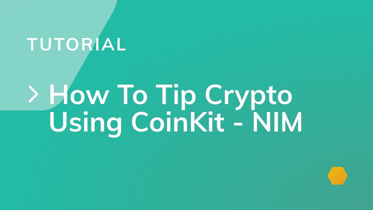 How To Tip Crypto Using CoinKit - NIM - YouTube