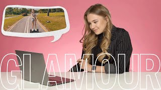 Катя Адушкина смотрит каверы на свои песни