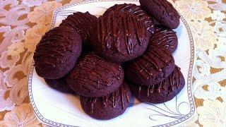 Шоколадное Печенье/Chocolate Cookies Recipe/Очень Простой Рецепт(Вкусно и Быстро)