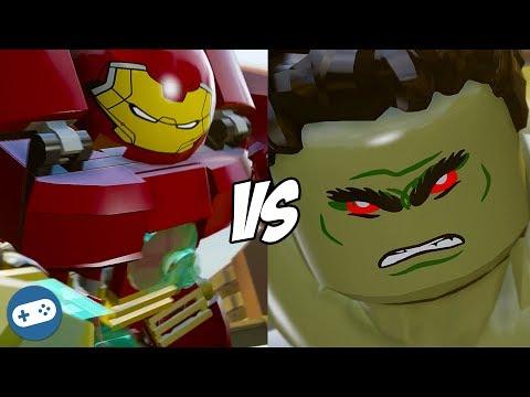 Lego Marvel Avengers Hulk vs Hulkbuster Anger Management Gameplay