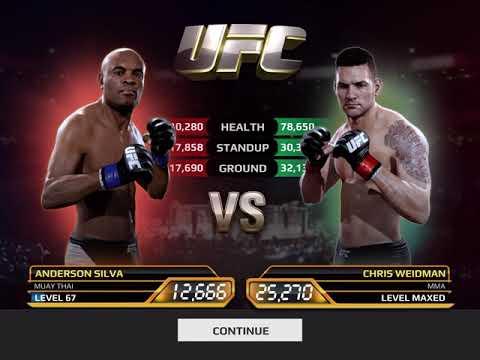 UFC MOBILE | Final Boss Fight 250, Anderson Silva Vs Chris Weidman