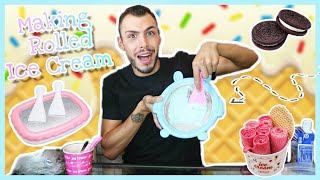 Φτιάχνω παγωτό Ice Roll  | Tsede The Real