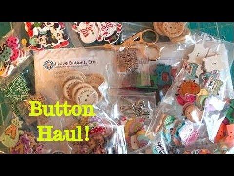 Button Haul & DIY Sewing Earrings!