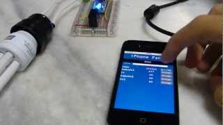 110v lamp being lighted by arduino and iPhone