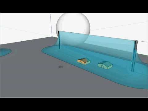 Rolling Sphere Method of Lightning Protection 3D Animation with Google  Sketchup