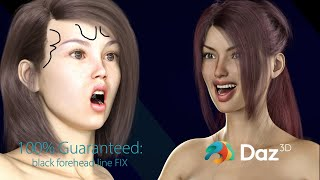 Daz Studio pro Tips: Fix Black lines on a Character's forehead 100% Guaranteed!