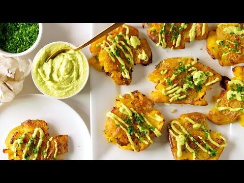Crispy Potatoes | Avocado Garlic Aioli