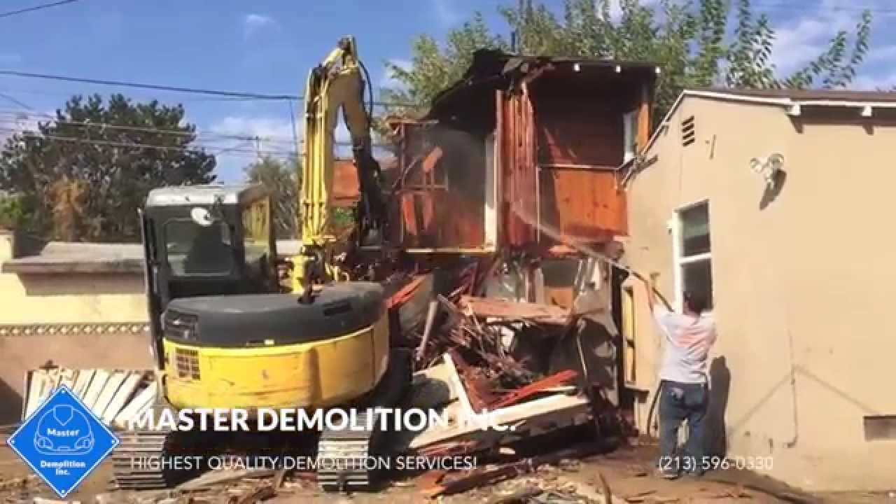 La house demolition services youtube for Swimming pool demolition los angeles