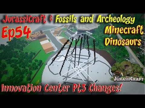 Jurassicraft & Fossils and Archeology Mod Jurassic World Ep54 Innovation Center Pt3 Changes