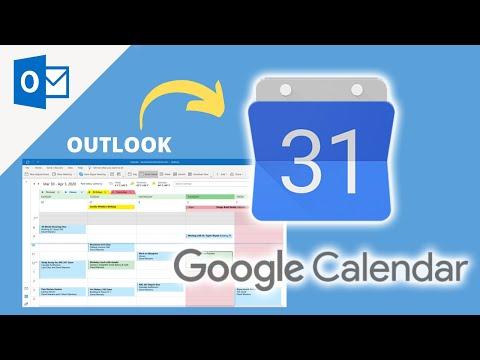 How to sync Outlook Calendar with Google Calendar - Google & Microsoft Outlook Tutorial