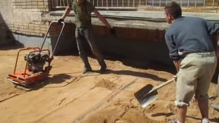 Профессиональная подготовка площадки - под укладку брусчатки