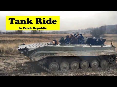 Riding a REAL TANK   Tank Ride in Prague   Soviet Union BMP Tank   Prague Tank Driving