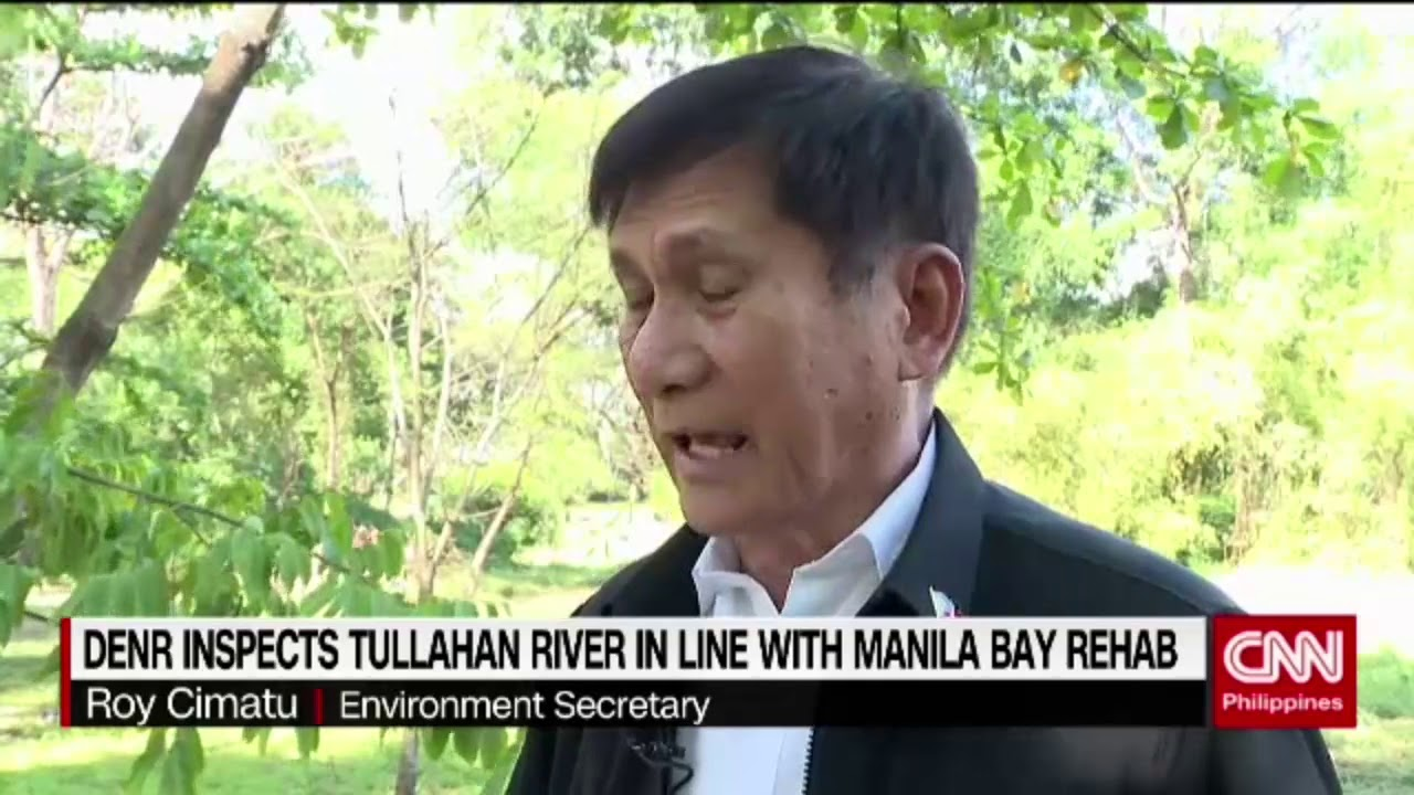 DENR inspects Tullahan river in line with Manila bay rehab