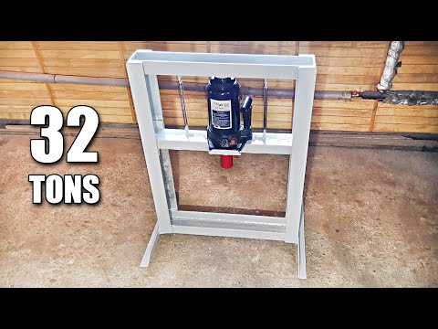 Homemade compact and very simple 32T Hydraulic Press
