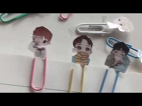 DIY KPOP PAPERCLIPS❤//EXO LUCKY ONE// HOW TO MAKE KPOP PAPERCLIPS❤✨