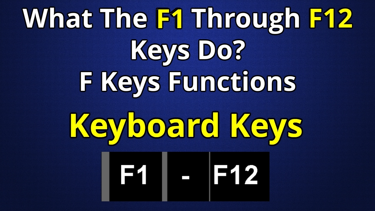 Function keys and their meaning