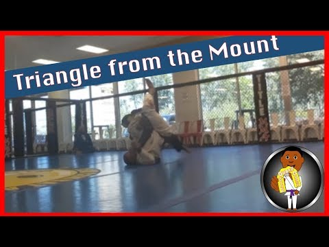 BJJ Roll No. 107 - Triangle from Mount - w/Gabe at Smiley Academy