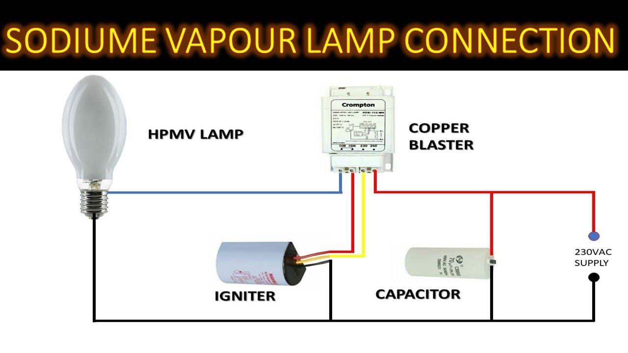 Hpmv Lamp Connection Sodium Vapour Lamp Wiring High Pressure Mercury Lamp Wiring Youtube