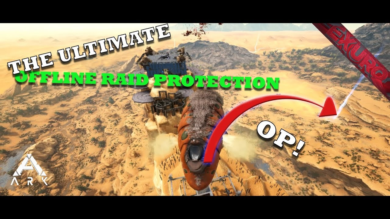 OP OFFLINE RAID PROTECTION!?! 3 Man PvP Servers - Ark: Survival Evolved MTS