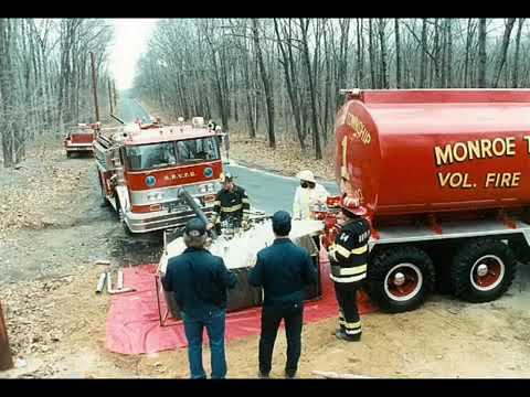 Monroe Twp NJ Middlesex Major Forest Fire 1985