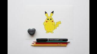 Как нарисовать пикачу / видео уроки рисования для детей