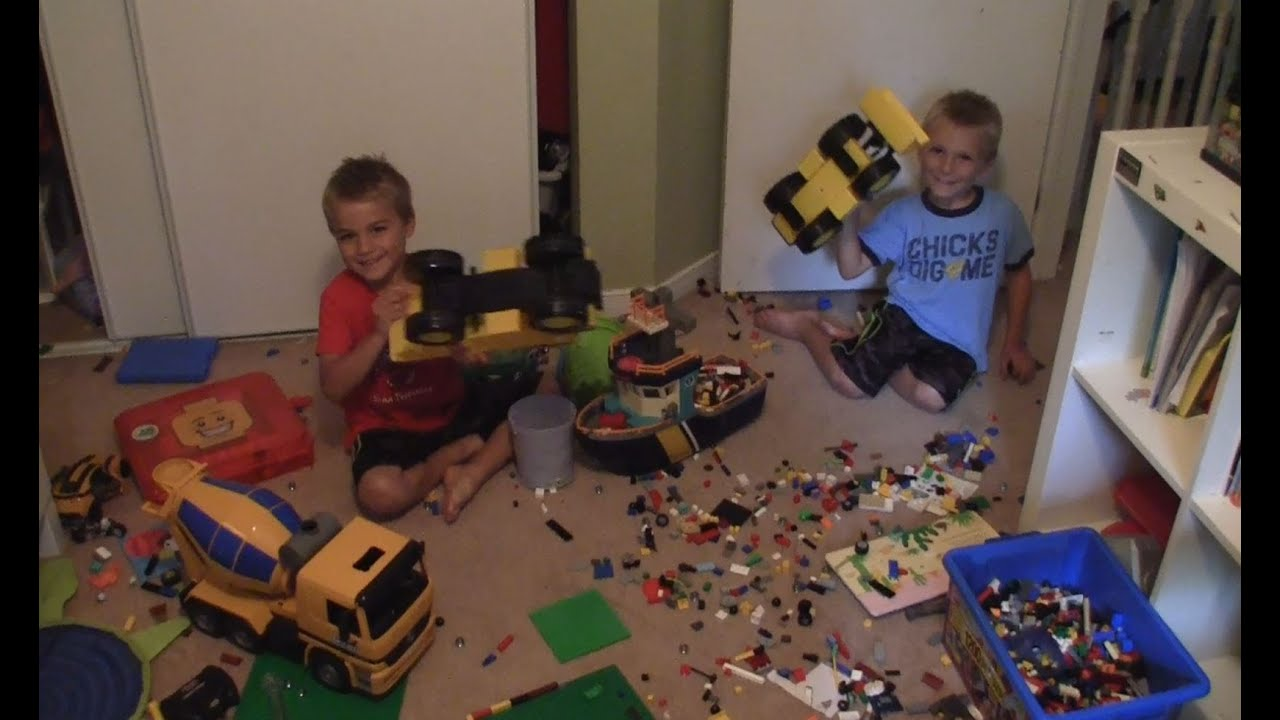 Lego Construction Site Mess Clean Up Your Room Youtube
