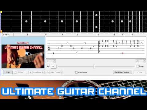 Guitar Solo Tab Faithfully Journey Youtube