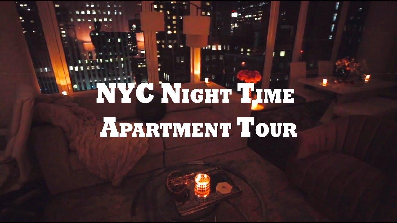 Nyc Night Time Apartment Tour Manhattan High Rise 2 Bdr 2ba