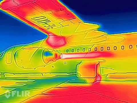 avro rj 100 jet engine start up thermal imaging camera