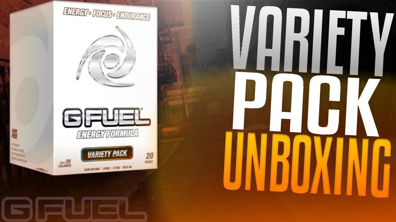 Gamma Labs G FUEL Variety Box UNBOXING! + FREE G Fuel! - YouTube