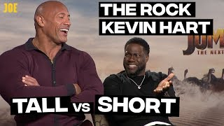 Dwayne Johnson (The Rock) and Kevin Hart: Tall people vs short people