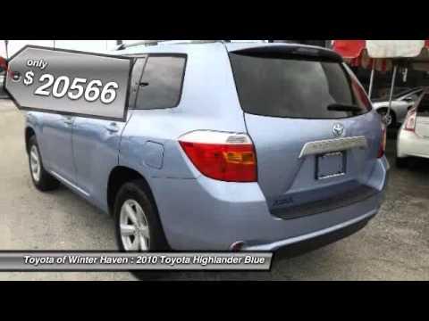 2010 Toyota Highlander Blue Winter Haven FL 33881