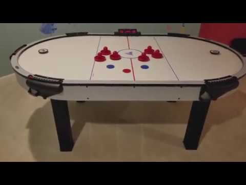 HALEX SOLID WOOD LARGE CLASSIC AIR HOCKEY TABLE