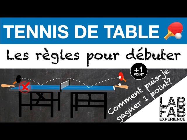 Tennis de table - Comment puis-je gagner 1 point? (L'essentiel des règles 4/4)