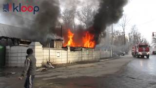 Пожар в кафе на северо-западе Бишкека