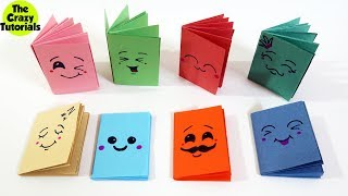 Easy MINI NOTEBOOKS from ONE sheet of Paper (DIY Mini Notebook) - DIY BACK TO SCHOOL