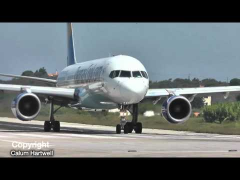 Airbus A321 VS Boeing 757 200   Who Wins? - SKIATHOS PLANESPOTTING