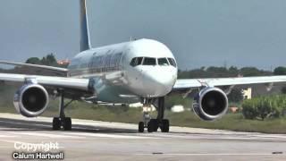 Airbus A321 VS Boeing 757 200   Who Wins? - SKIATHOS PLANESPOTTING