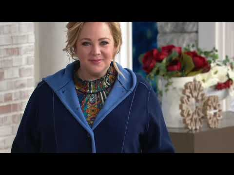 Susan Graver Weekend Bonded Polar Fleece Coat on QVC