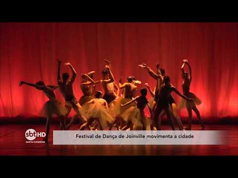 SBT Santa Catarina mostra bastidotres do Festival de Dança de Joinville
