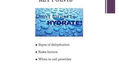 Dehydration in Older Adults