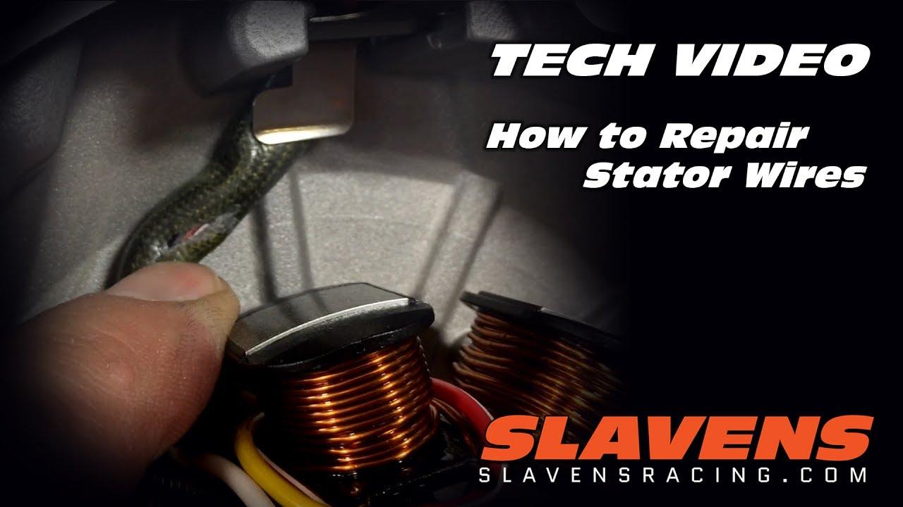 pit bike wiring diagram how to read guitar chord diagrams repair stator wires youtube