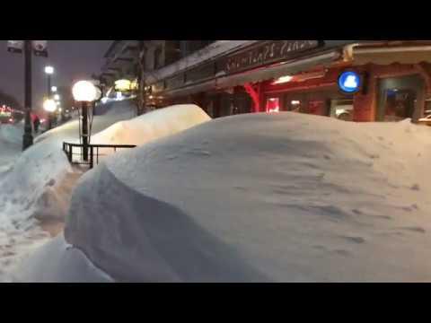 Blizzard Today, February 13, 2019 Quebec City Canada