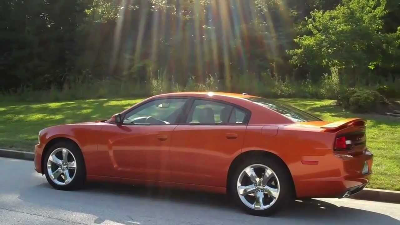 Toxic Orange! 2011 Dodge Charger Rallye - YouTube