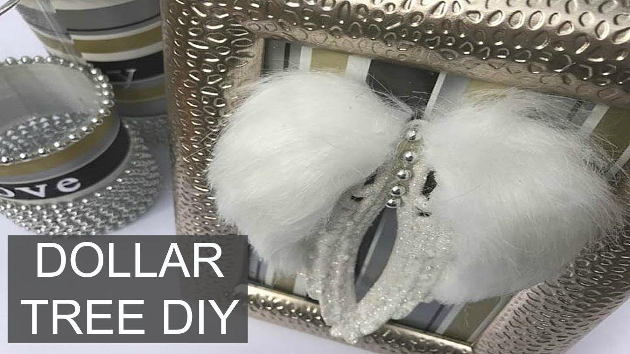 DIY | Dollar Tree Wall Decor Idea | Christmas Craft - YouTube
